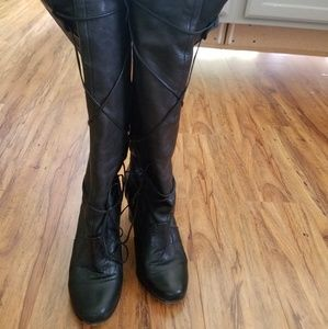 Dolce Vita tall black leather boots